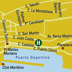 Plano de acceso de Hotel Vincci Puerto Chico