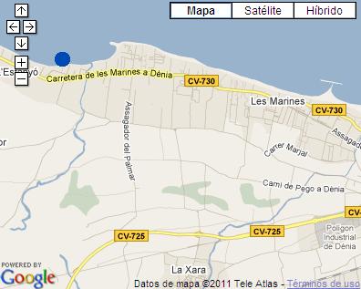 Plano de acceso de Hotel Noguera Mar