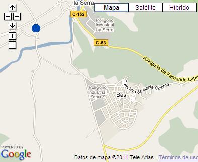 Plano de acceso de Hotel Vall De Bas