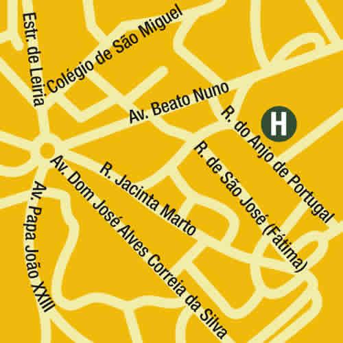 Plano de acceso de Hotel Anjo Portugal