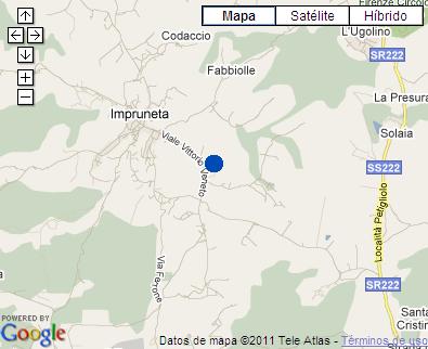 Plano de acceso de Hotel Villa Cesi