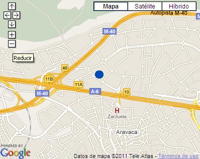Plano de acceso de Hotel Ac Aravaca