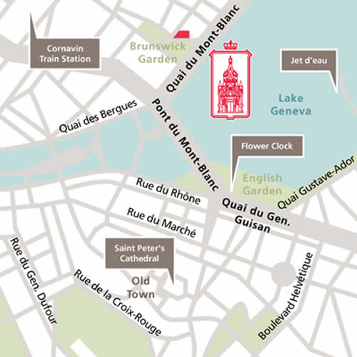 Plano de acceso de Hotel Le Richemond