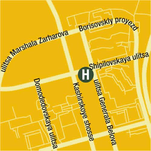 Plano de acceso de ''Milan'' Moscow Hotel