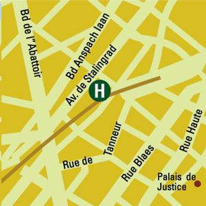 Plano de acceso de Hotel Floris  Avenue