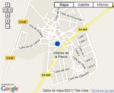 Plano de acceso de Hotel Hostal Los Villares