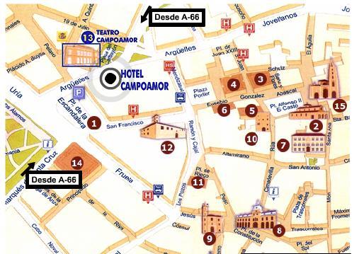 Plano de acceso de Hotel Campoamor
