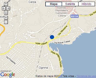 Plano de acceso de Hotel Idea Catania Ognia