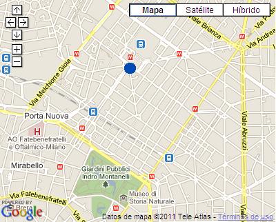 Plano de acceso de Hotel Idea Milano Centrale