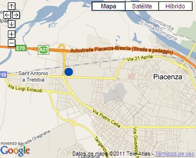 Plano de acceso de Hotel Idea Piacenza