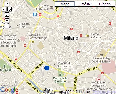 Plano de acceso de Hotel Idea H. Milano Corso Genova