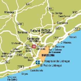 Plano de acceso de Hotel Calasanz