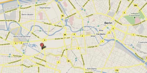Plano de acceso de Hotel Pestana Berlin