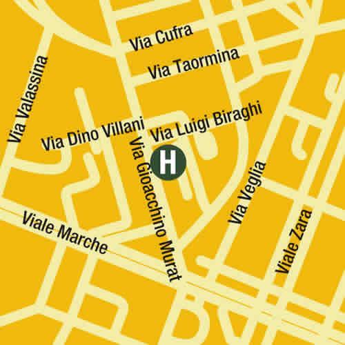 Plano de acceso de Atahotel Contessa Jolanda Residence