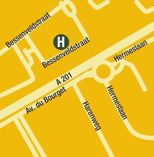 Plano de acceso de Hotel Golden Tulip Brussels Airport