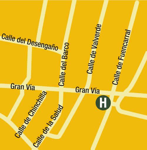 Plano de acceso de Hotel Praktik Metropol