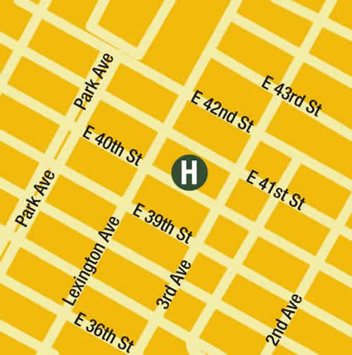 Plano de acceso de Hotel Seton