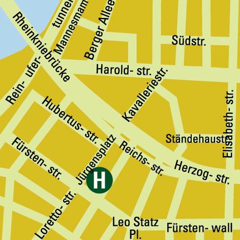 Plano de acceso de Hotel Kastens