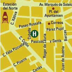 Plano de acceso de Hotel Vincci  Lys