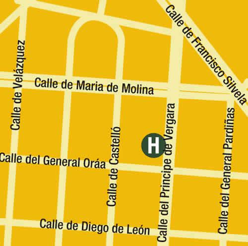 Plano de acceso de Hotel Dormirdcine