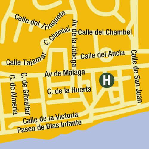 Plano de acceso de Hotel Cala Bahia
