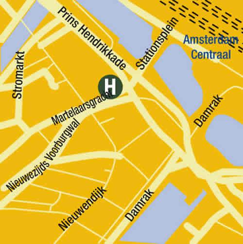 Plano de acceso de Hotel Bellevue