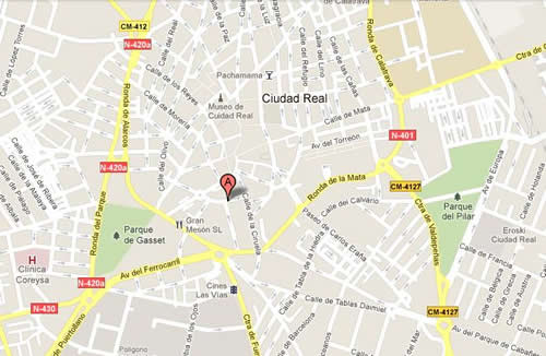 Plano de acceso de Hotel Santa Cecilia