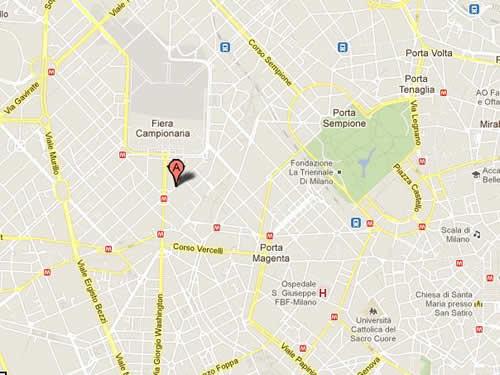 Plano de acceso de Hotel Tiziano
