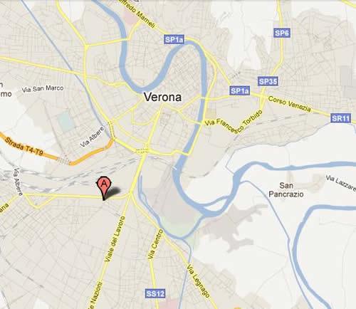 Plano de acceso de Hotel Fiera Verona