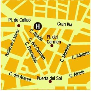 Plano de acceso de Hotel Ii Castillas