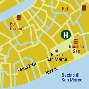 Plano de acceso de San Marco Royal Hotel