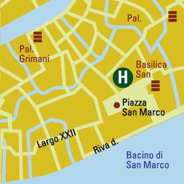 Plano de acceso de San Marco Hotel Ambassador