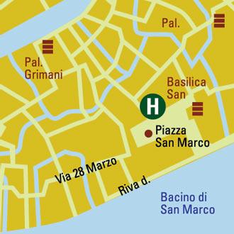 Plano de acceso de Hotel San Marco Palace All Suites