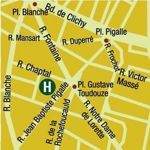 Plano de acceso de Hotel Villa Van Gogh  (75009)