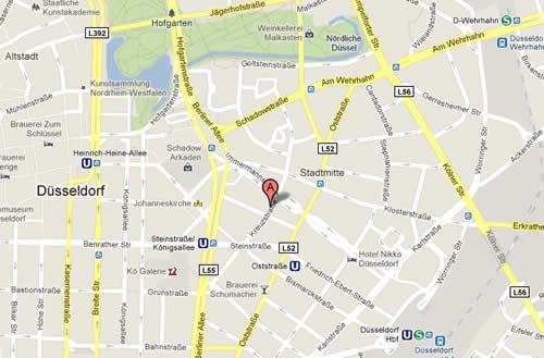 Plano de acceso de Grand City Borsenhotel