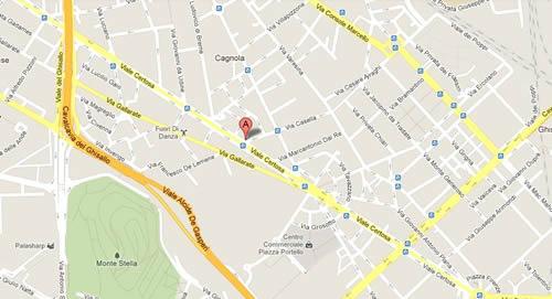Plano de acceso de Hotel Raffaello