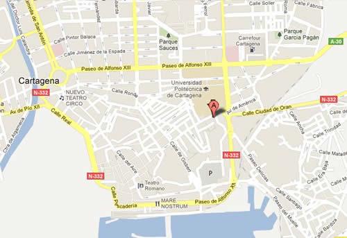 Plano de acceso de Hotel Habaneros