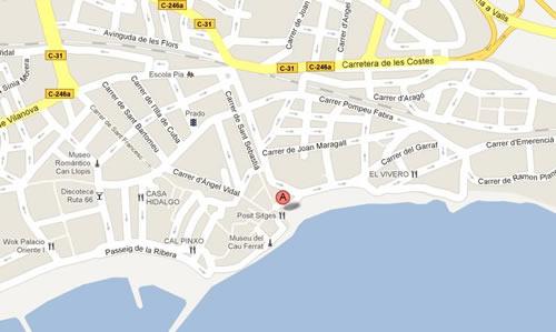 Plano de acceso de Hotel San Sebastián Playa