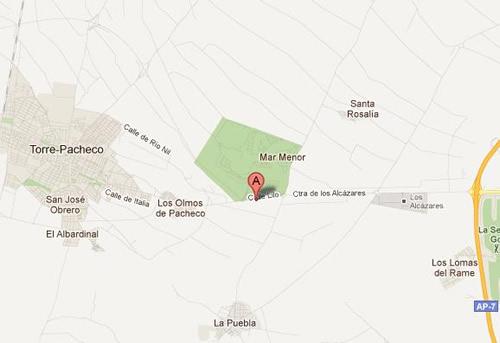 Plano de acceso de Hotel Spa Torre Pacheco