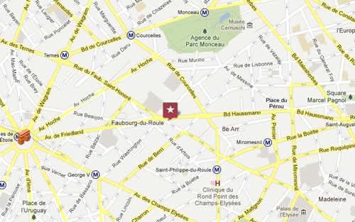 Plano de acceso de Hotel Bw Plaza Elysées