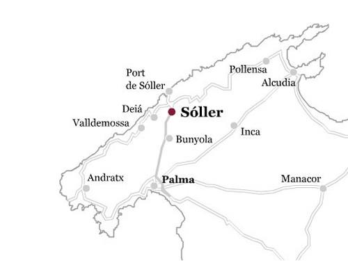 Plano de acceso de Gran Hotel Soller