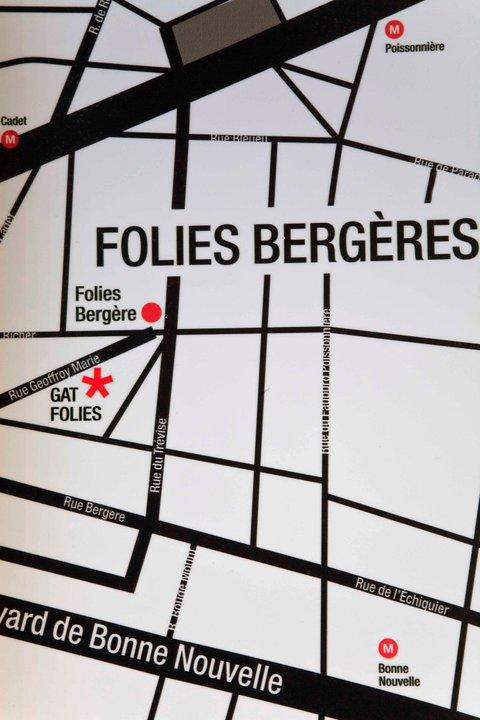 Plano de acceso de Hotel Gat Folies