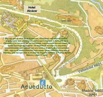Plano de acceso de Hotel Alcazar