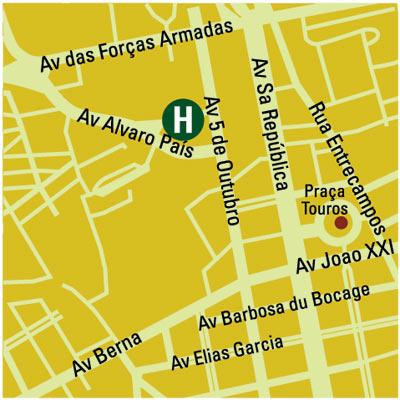Plano de acceso de Hotel Villa Rica