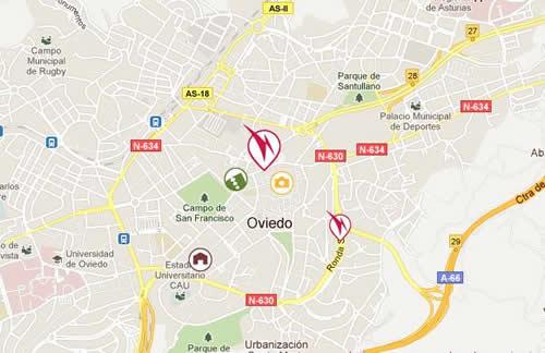 Plano de acceso de Husa Gran Hotel España