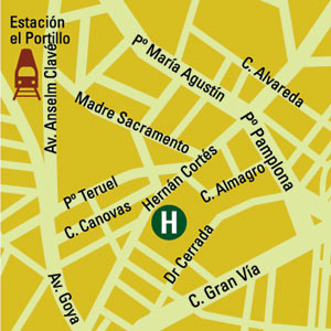 Plano de acceso de Hotel Conquistador