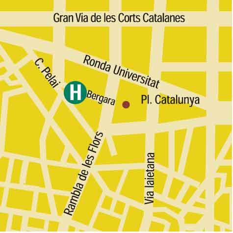 Plano de acceso de Hotel Pulitzer Barcelona