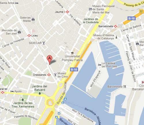 Plano de acceso de Hotel Eurostars Ramblas
