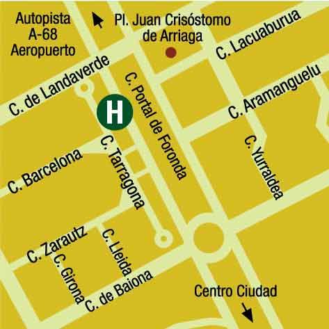 Plano de acceso de Apartamentos Gh Lakua
