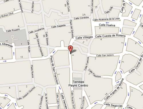 Plano de acceso de Hotel Husa Las Casas De Los Mercaderes